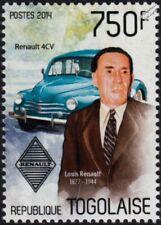 Louis Renault & Renault 4Cv Car Automobile Stamp (2014 Togo)