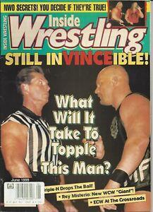 Inside Wrestling Magazine Jun 1999 Mr. McMahon Curt Hennig    W036