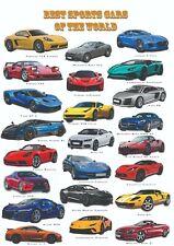 Samochody sportowe - dekoracyjny plakat A2 + plakat GRATIS + darmowa wysyłka!