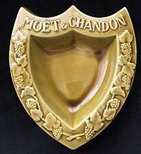 "MOET CHANDON  TRADEMARK SHIELD  ASHTRAY 10"" X 8"" DISCONTINUED RARE USED"