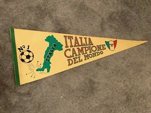 VTG Italy 1982 World Cup Champions Pennant Soccer RARE Italia Campione OG 80s