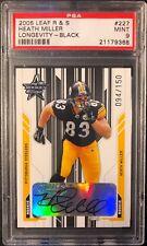 2005 Leaf Rookie & Stars Auto Heath Miller Rookie PSA 9 Mint #'d 94/150 Steelers