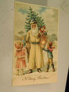 Tan Robed Santa Serie 295 Christmas Postcard 1/25/21