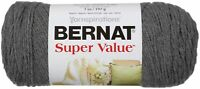 Bernat Super Value Solid Yarn-True Grey, 164053-53044