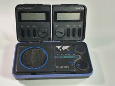 Philips D1868 FM Portable Travel Radio Clock - Collectible Vintage Item