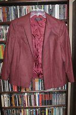 Brooks Brothers Maroon Wool Cropped Open Front Blazer Jacket sz 14 (bin52)
