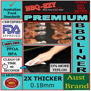 BBQ MATS PREMIUM(2xThicker) BBQ Sheet NonStik PTFE  Money Back Aussie Guarantee