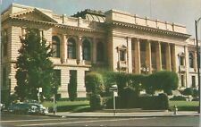 Sonoma County Courthouse Street View Car Santa Rosa CA 1961 Postcard - Posted