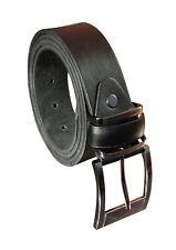 """Men'S Milano ® Negro Cinturón De Cuero: cintura 28"""" - 48"""": 1.5"""" Ancho: opción de caja de regalo"""