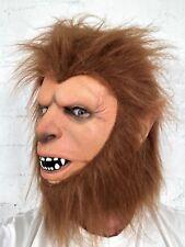 Máscara Adulto Realista adolescente Hombre Lobo Disfraz De Halloween Látex Máscaras de cabeza de lobo