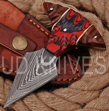 UD KNIVES CUSTOM HANDMADE DAMASCUS STEEL HUNTING FULL TANG KNIFE 8801
