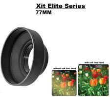 Xit 77mm (XTSLH77) Soft Rubber Camera Lens Hood