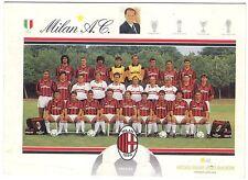 Cartolina Squadra AC Milan Stagione 1991/92
