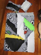 13 - 18 inch doll blanket and pillow set fits AG, Reborn, Bitty Baby doll BOY