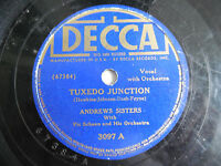 "Andrews Sisters Decca 3097 Tuxedo Junction Rhumboogie 78rpm 10"" 198-4NI"