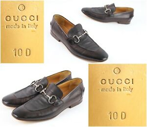 Gucci Horsebit Leather Slip on Loafer Men's Sz 10 D Brown - Fast Ship!