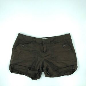 American Rag Cie Womens Shorts Brown Stretch Pockets Flat Front Juniors 9