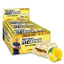 FITCRUNCH Lemon Cake Protein Bar, High Protein, Low Carb, Gluten Free, 9 Count