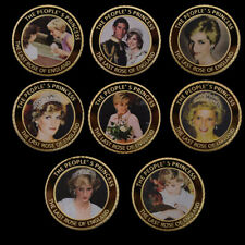 8pcs/lot Princess Diana Challenge Coin Home Decoration Coins Collectibles