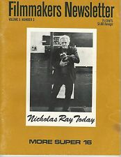 Jan 1973~Filmmakers Newsletter~Nicholas Ray Today-More Super 16