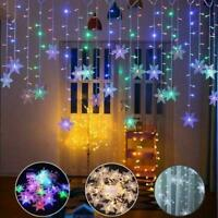 Christmas LED Curtain Snowflake String Window Fairy x1 Party Light Decor P2T5