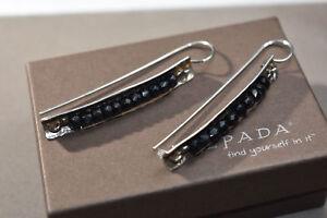 SILPADA RARE Sterling Silver 925 Faceted TOURMALINE Bead DANGLE Earrings  W1198