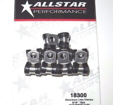 "AllStar Rubber Cushioned Aluminum Line Clamp 3/16"" 10pk Brake Fuel Oil Battery"