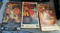 Indiana Jones trilogy VHS tapes Collectable Harrison Ford