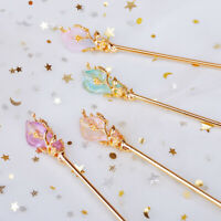 Chinese Style Women Hair Stick Metal Rhinestone Hair Chopstick Hairpin Headwear