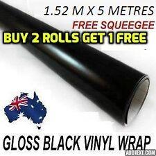 OZ excellent GLOSS Black Car Vinyl Wrap Sticker1.52 X 5 metre, squegee free