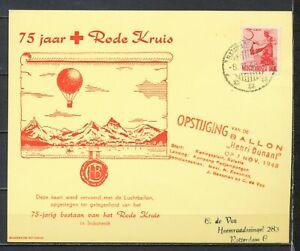 OPSTIJGING BALLOON 'HENRI DUNANT' BATAVIA 8.11.1948 75 JAAR RODE KRUIS     Kr782
