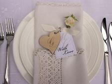 Kennedy Creations Engraved Hearts with Guest Initial x 10, Wedding Favour