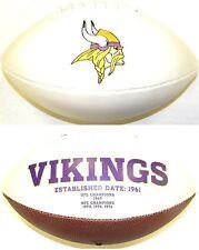 Minnesota Vikings Rawlings NFL White Panel Team Logo Full Size Fotoball Football