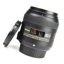 Nikon AF-S 40mm Micro F2.8 G DX AF Nikkor Prime Lens + Front & Rear Lens Caps