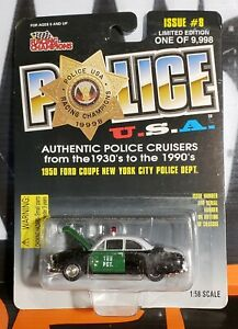 1998 RACING CHAMPIONS POLICE U.S.A. - 1950 FORD COUPE NEW YORK CITY POLICE DEPT