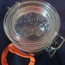 "Vintage LE PARFAIT ""SUPER"" .5 liter CANNING JAR with Wire Bale, France"