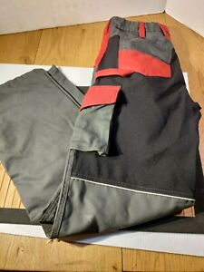 Pant  PFANNER Chainsaw Pants 32 W 32 L Germany Red Gray Excellent Euro 46 Fship