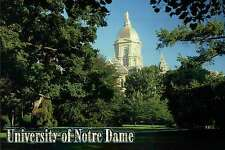 University of Notre Dame Admin Building, Golden Dome, South Bend, IN - Postcard