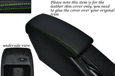 GREEN STITCH LEATHER ARMREST SKIN COVER FITS TOYOTA COROLLA LEVIN GT-Z AE101