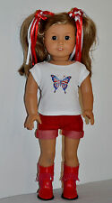 AMERICAN  MADE DOLL CLOTHES FOR AMERICAN GIRL DOLLS DRESS LOT 00685