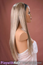 Long Straight 3/4 Hair Extensions - COLOUR CHOICES! Natural Blonde Brown