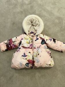 Ted Baker Baby Girl Coat All In One 3-6 Months 3-6M White Rose Gold BNWT