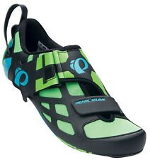 Pearl Izumi Tri Fly V Carbon Triathlon Cycling Shoes Green Flash - 41
