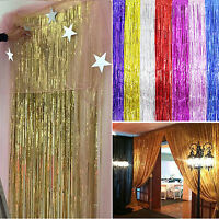 Metallic Fringe Curtain Party Foil Tinsel Home Room Decor Door Decoration Best