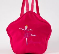 UK Stock Lovely Cute Girls Kids Hot Pink BALLET Bag DANCING Bag Backpack Star