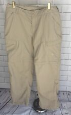 The North Face Women's Nylon Hiking Pants Size 16 Zip Off Tan Outdoors D2 Active