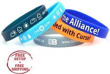 Custom Silicone Wristband Printed W/ Company / School / Slogan / Logo, 100  QTY