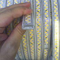 230V led strip 220V 5730 180Leds/m Cold white Flexible Led tape Night light 5630