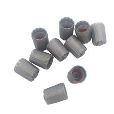 10pcs TPMS Gray Plastic Car Bike Motorcycle Truck wheel Tire Valve Stem Caps