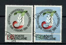 Italy 1966 SG#1162-3 Anniv Of Republic Used Set #A40271